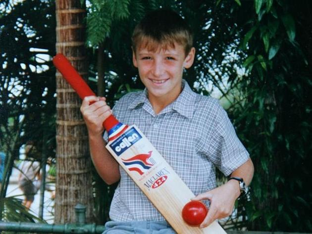 a photo of Phillip Hughes during his childhood